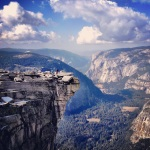 From the top of Half Dome :) Pretty !