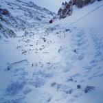 Deep fresh snow = mucho effort