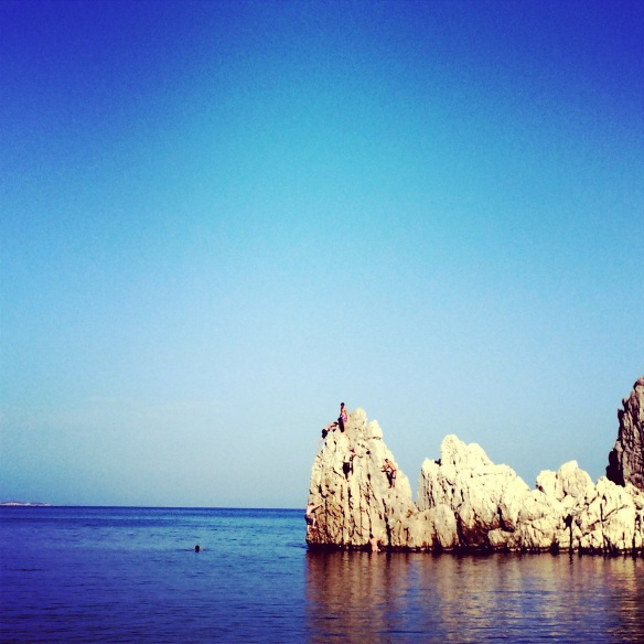 Olympos, loads of rocks and an endless beach