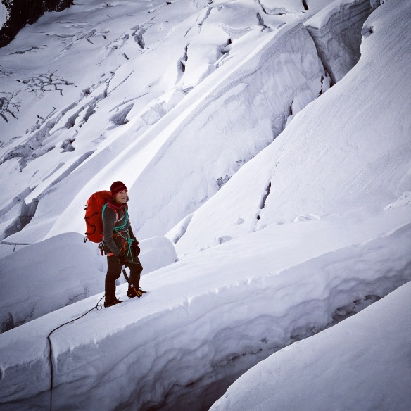 The tricky way down on the South side (Italian side)  Rémi_Thivel