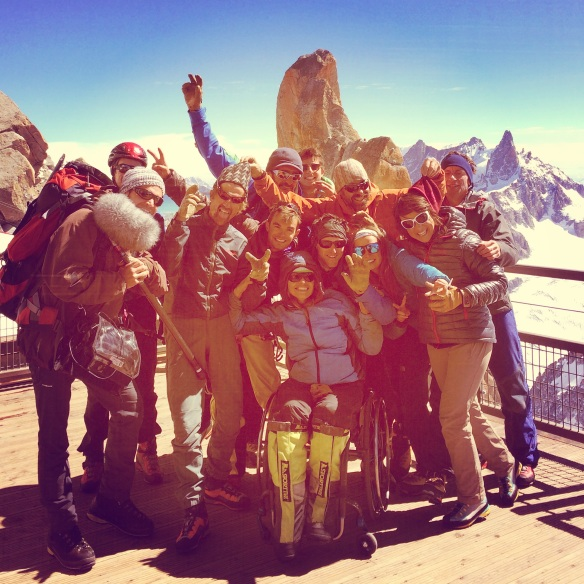 The dream team for the Cosmique Ridge mission. Thanks to you all! :)