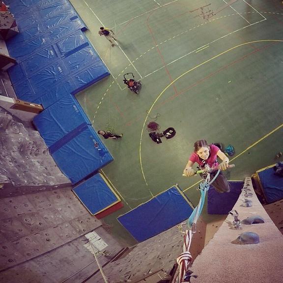 Vanessa Training at ENSA wall