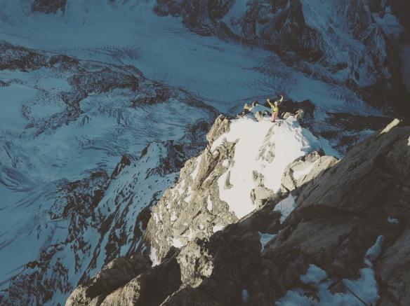Un de mes moments préférés en montagne, quand le soleil me réchauffe le bout du nez